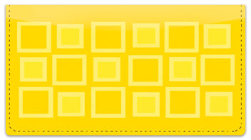 Retro Square Checkbook Cover