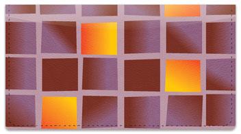 Colorful Tile Checkbook Cover