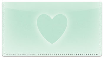 Glowing Heart Checkbook Cover