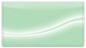 Green Swoosh Checkbook Cover