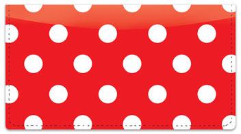 Polka Dot Checkbook Cover