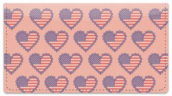 Patriotic Heart Checkbook Cover