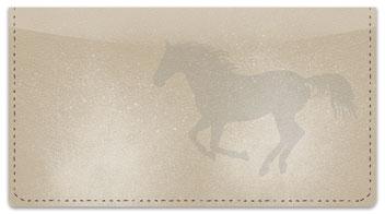 Horse Silhouette Checkbook Cover