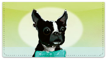 Dog Painting Checkbook Cover
