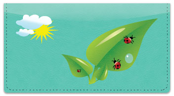 Cute Ladybug Checkbook Cover
