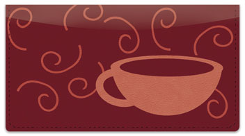 Cup of Coffee Checkbook Cover
