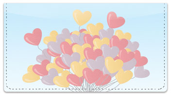 Heart Balloon Checkbook Cover