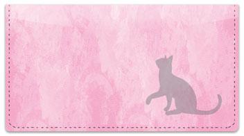 Cat Silhouette Checkbook Cover