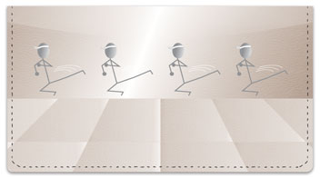 Kung Fu Stick Figure Checkbook Cover