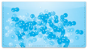 Bath Bubbles Checkbook Cover