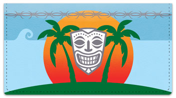 Tribal Mask Checkbook Cover