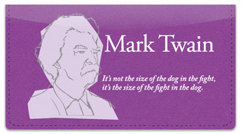 Mark Twain Checkbook Cover