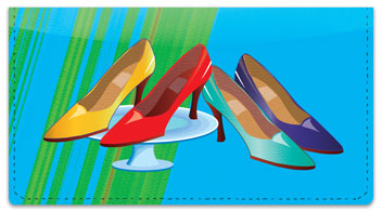 Shoe Shopping Checkbook Cover