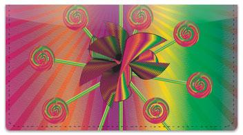 Retro Pinwheel Checkbook Cover