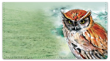 Bird Artwork Checkbook Cover