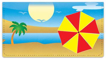 Beach Umbrella Checkbook Cover