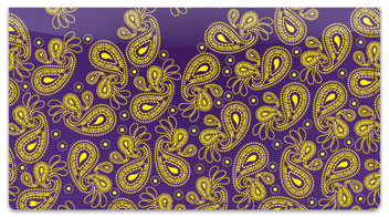 Paisley Pattern Checkbook Cover