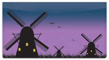 Dutch Windmill Checkbook Cover