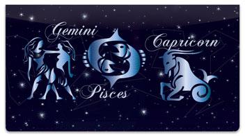 Zodiac Symbol Checkbook Cover