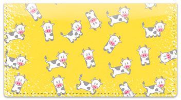 Cute Cow Checkbook Cover