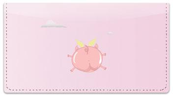 Flying Pig Checkbook Cover
