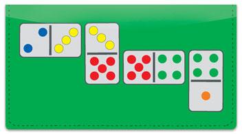 Domino Checkbook Cover