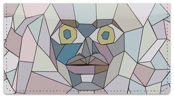 Stone Face Checkbook Cover