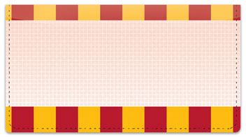 Stripe & Tile Checkbook Cover
