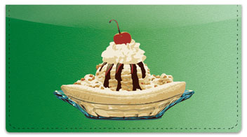 Ice Cream Checkbook Cover
