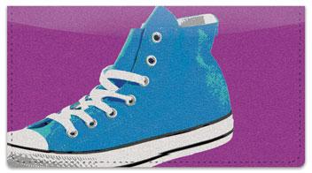 Retro Shoes Checkbook Cover