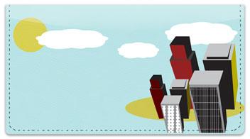 Cityscape Checkbook Cover