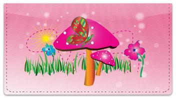 Retro Mushroom Checkbook Cover