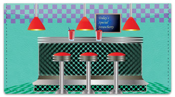 Fifties Diner Checkbook Cover