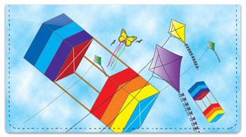 Colorful Kite Checkbook Cover