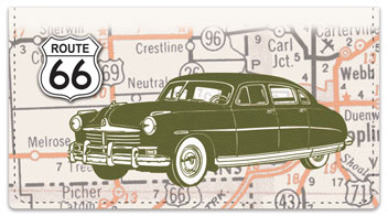Route 66 Checkbook Cover