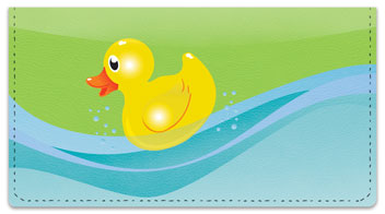 Rubber Duck Checkbook Cover