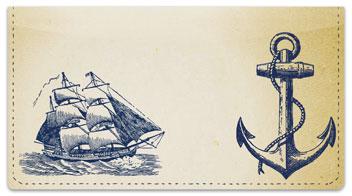 Scrimshaw Ships Checkbook Cover