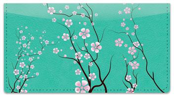 Cherry Blossom Checkbook Cover