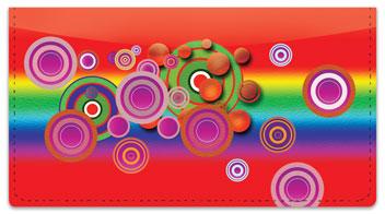 Retro Bullseye Checkbook Cover