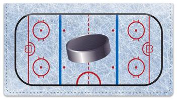 Hockey Checkbook Cover