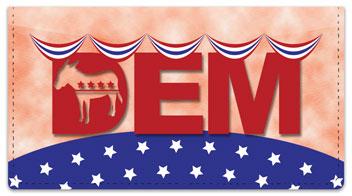 Democratic Party Checkbook Cover