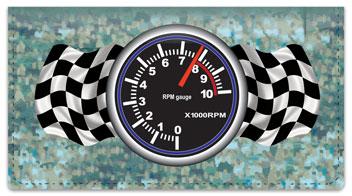 Racecar Checkbook Cover