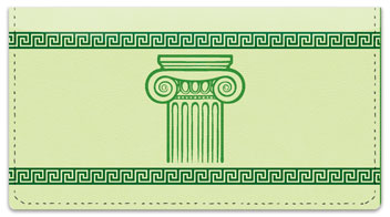 Greek to Me Checkbook Cover