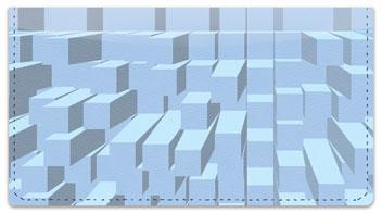Extruded Blocks Checkbook Cover