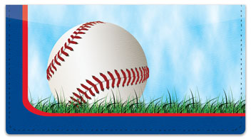 Red & Blue Baseball Fan Checkbook Cover