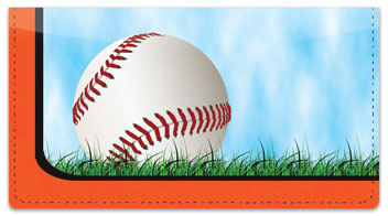 Orange & Black Baseball Fan Checkbook Cover
