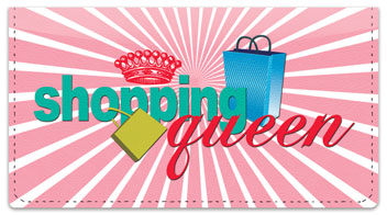Shopping Queen Checkbook Cover