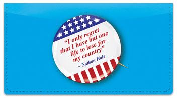 Patriotic Button Checkbook Cover
