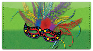 Mardi Gras Checkbook Cover