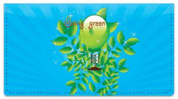 Doing Green Checkbook Cover